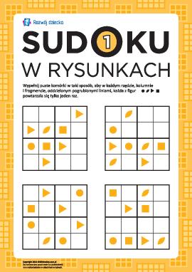 Sudoku w rysunkach: rozwijamy logikę nr 1