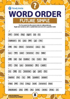 Szyk wyrazów w zdaniu pytającym: Future Simple