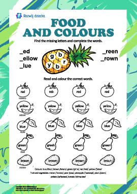 Nazwy kolorów w języku angielskim: żywność