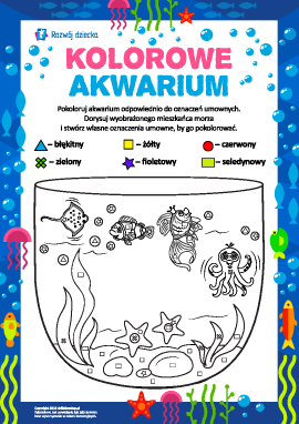 Kolorowe akwarium: kolorujemy i fantazjujemy