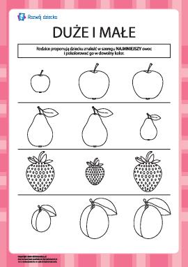 Kolorowanka — najmniejszy owoc