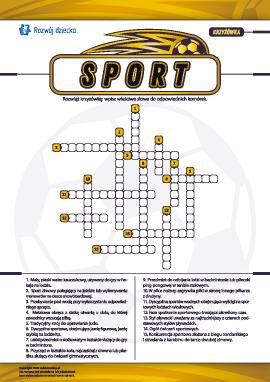 """Krzyżówka """"Sport"""""""