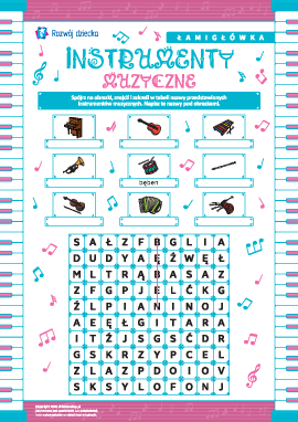 """Łamigłówka """"Instrumenty muzyczne"""""""