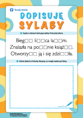 Dopisujemy sylaby: uczymy się czytania i pisania