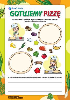Gotujemy pizzę: owoce i warzywa