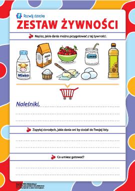 Zestaw żywności: gotowanie dań