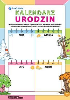 Kalendarz urodzin: orientujemy się w datach