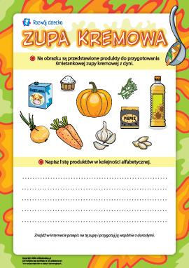 Zupa kremowa: układamy listę produktów