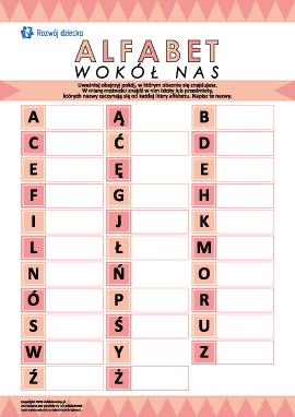 Alfabet wokół nas: piszemy nazwy przedmiotów