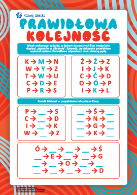 Prawidłowa kolejność: uczymy się alfabetu