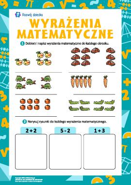 Wyrażenia matematyczne: układamy zadania