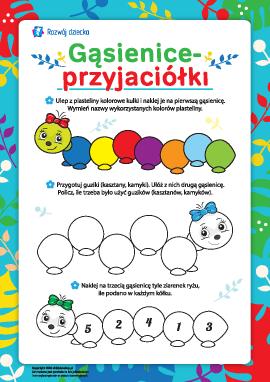 Gąsienice-przyjaciółki: przygotowanie do szkoły