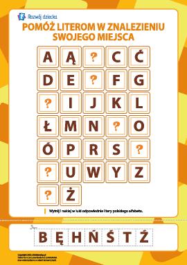 Skompletuj polski alfabet (7 luk)