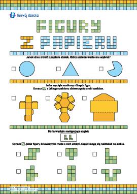 Figury z papieru: ćwiczymy myślenie