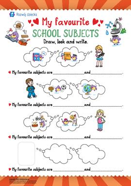 Ulubione przedmioty szkolne (język angielski)