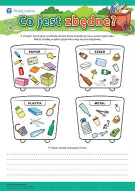 Co jest zbędne: segregujemy śmieci