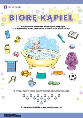 Biorę kąpiel: higiena osobista