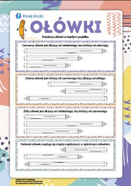 Ołówki: zadania logiczne