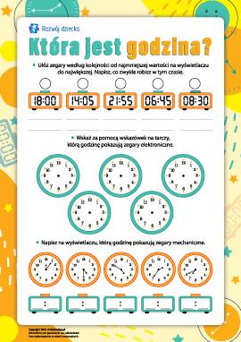 Która jest godzina: korzystamy ze zegarków