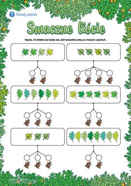 Smaczne liście: uczymy się dzielenia