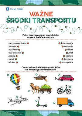 Łączymy środki transportu i zawody