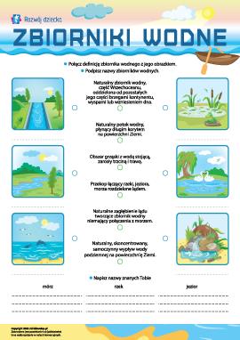 Zbiorniki wodne: uczymy się rozróżniania