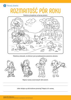 Uczymy się rozmaitości pór roku: jesień