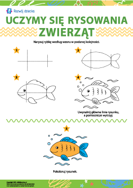Uczymy się rysowania zwierząt: rybka
