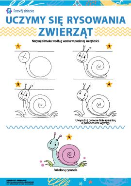 Uczymy się rysowania zwierząt: ślimak