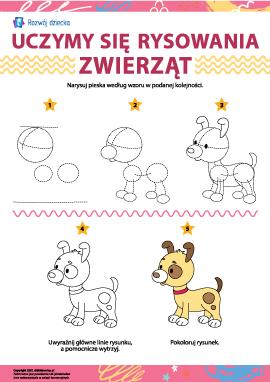 Uczymy się rysowania zwierząt: piesek
