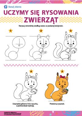 Uczymy się rysowania zwierząt: wiewiórka