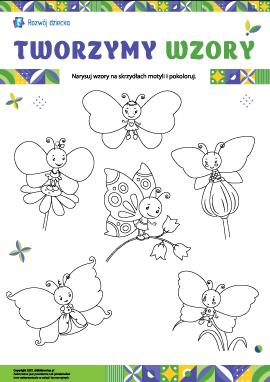 Wymyślamy wzory na skrzydłach motyli