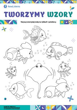 Wymyślamy wzory na rybiej łusce