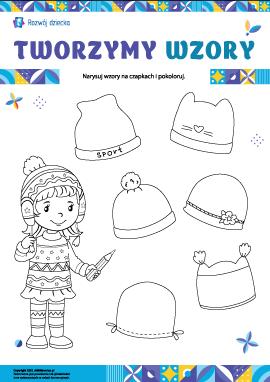 Wymyślamy wzory na czapkach