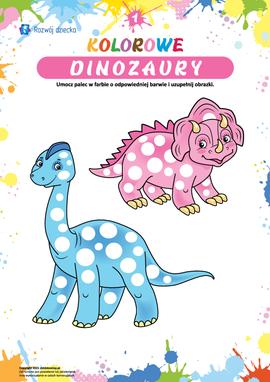 Kolorowe dinozaury: rozwijamy motorykę