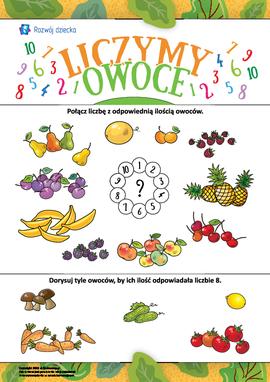 Liczymy owoce: uczymy się składu liczby