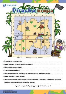 Piracka mapa: określamy lokalizację