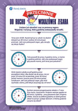 Przeciwnie do ruchu wskazówek zegara: określamy czas