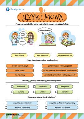 Język i mowa: uogólniamy opanowaną wiedzę