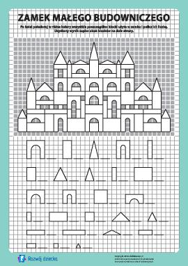 Zamek budowniczego: pokoloruj i policz nr 11
