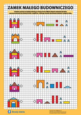 Zamek budowniczego: znajdź zestaw nr 8