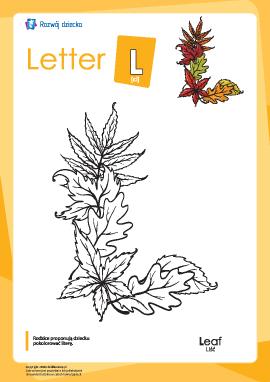 """Kolorowanka """"Alfabet angielski"""": litera """"L"""""""