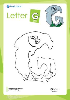 """Kolorowanka """"Alfabet angielski"""": litera """"G"""""""