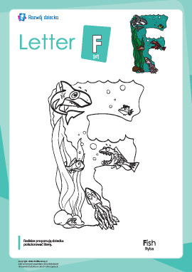 "Kolorowanka ""Alfabet angielski"": litera ""F"""