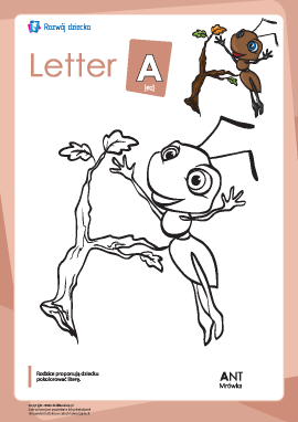 "Kolorowanka ""Alfabet angielski"": litera ""A"""