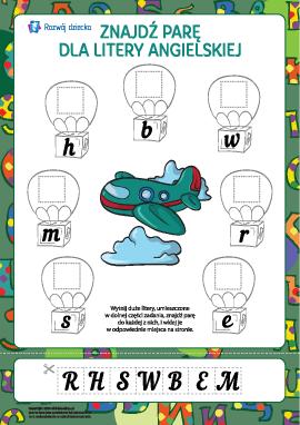 Znajdź parę dla litery nr 3 (alfabet angielski)