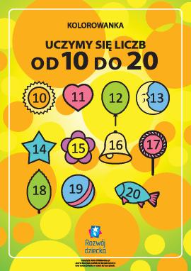 """Uczymy się liczb od """"10"""" do """"20"""""""