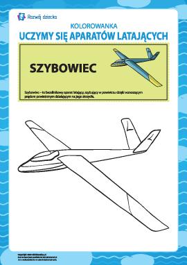 Kolorowanka aparatów latających: szybowiec