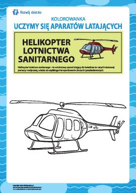 Kolorowanka aparatów latających: helikopter lotnictwa sanitarnego