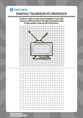 Rysowanie od kropki do kropki: telewizor